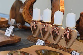 Svietidlá a sviečky - Adventný svietnik - 7167900_