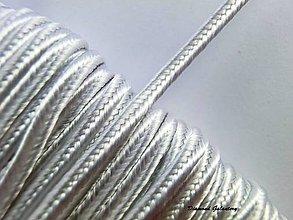 Galantéria - Sutaška 3 mm - biela - 7166421_