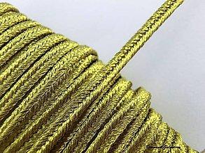 Galantéria - Sutaška 3 mm  - zlatá s kovovým vláknom - 7166503_