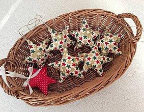 Dekorácie - vianočné ozdoby - hviezdičky - 7168093_