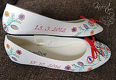 Obuv - Svadobné balerínky Terézia a Marek - 7167317_