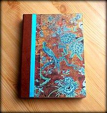 Papiernictvo - Ručne šitý vintage diár/denník/zápisník/notes/sketchbook/náčrtník ,,Japanese garden