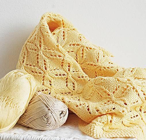 Textil - Detská pletená deka - vanilková - 7169069_