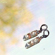 Náušnice - Medený poklad - náušnice zo živice - 7166855_