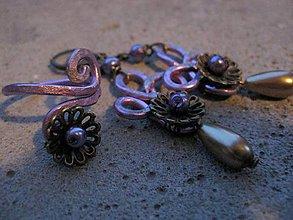 Sady šperkov - Nežné kvietky s perlou - sada č.558 - 7166825_