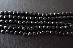 Minerály - Skoryl (turmalín čierny) so sľudou fazetovaný  6mm - 7166932_