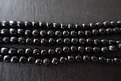 Minerály - Skoryl (turmalín čierny) so sľudou fazetovaný  6mm - 7166937_