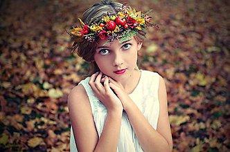 Ozdoby do vlasov - Jesenný venček♥ - 7168604_