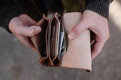 Peňaženky - Eggo peňaženka Smith M tmavo hnedá - 7167779_