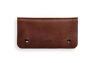 Peňaženky - Eggo peňaženka Smith L tmavo hnedá - 7167612_