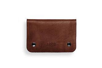 Peňaženky - Eggo peňaženka Smith M tmavo hnedá - 7167771_