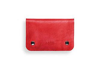 Peňaženky - Eggo peňaženka Smith M červená - 7167797_