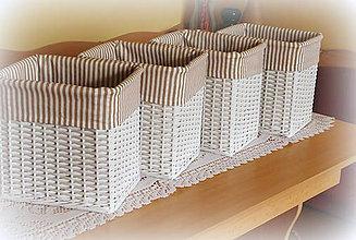 Košíky - Košík prúžok 6 - 7167753_