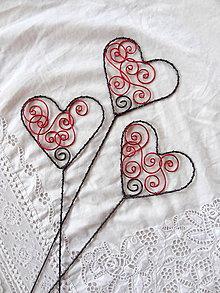 Dekorácie - na vlnách lásky...srdce-zápich - 7170341_