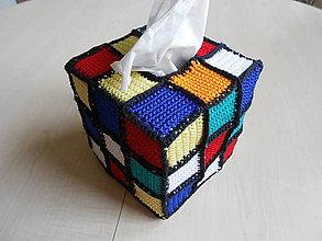 Dekorácie - Obal na vreckovky Rubik - 7170557_