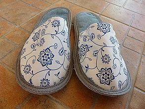 Obuv - Papuče modré - 7172978_