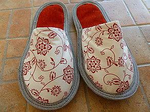 Obuv - Papuče červené - 7173036_