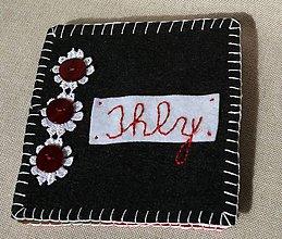 Drobnosti - Ihelnička čierno-červená - 7170227_