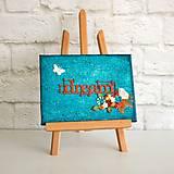 dream / snívaj - motivačný obrázok v tyrkysovo-červenej kombinácii s kvetmi
