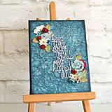Take time to do what makes you happy - motivačný obraz s citátom pre šťastie a kvetmi