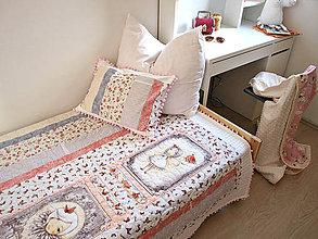 Úžitkový textil - Dievčenský prehoz pre krehkú dušičku - 7173464_