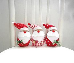 Dekorácie - Miki škriatok vianočný...červený - 7170388_