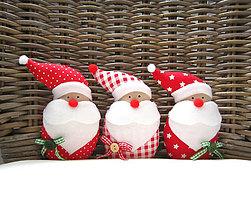 Dekorácie - Miki škriatok vianočný...červený - 7170389_