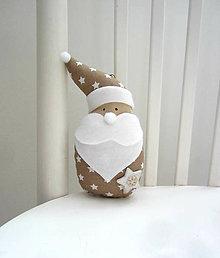Dekorácie - Miki škriatok vianočný...natur - 7170466_