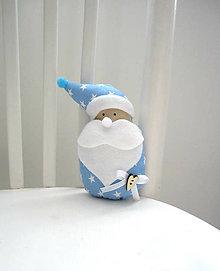 Dekorácie - Miki škriatok vianočný...modrý - 7170485_