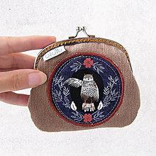 Peňaženky - Peňaženka Lesné zvieratká v ornamentoch - 7173431_