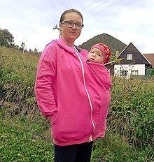 Tehotenské oblečenie - Mikina na nosenie bábätka - 7171778_