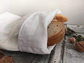 Úžitkový textil - Ľanové vrecúško z ručne tkaného ľanu 3v1 - 7169592_