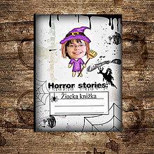 Detské doplnky - Hororová žiacka knižka strašidelná - 7169738_