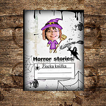 Detské doplnky - Hororová žiacka knižka strašidelná (čarodejnica/ježibaba) - 7169738_