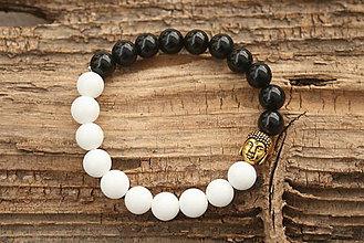 Šperky - Náramok jing-jang /onyx a jadeit/ - 7177142_