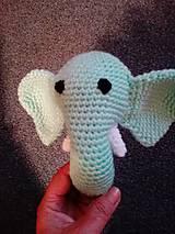 Hračky - Hrkálka sloník Bim - 7176497_