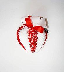 Dekorácie - Srdiečko z lásky, červené - 7173502_