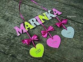 Detské doplnky - menovka pre Marinku - 7175813_
