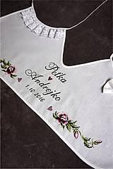Iné doplnky - svadobný dvojitý podbradník - folk ružičky - 7178192_