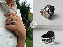 Prstene - Strieborný unikátny vintage prsteň s jaspisom- Rokoko Queen - 7176998_
