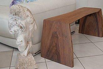Nábytok - design walnut Bench \