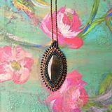 - Achátový n.2 - šitý náhrdelník - 7177748_
