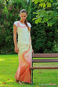 Sukne - Sukňa batikovaná, maľovaná, etno LAKA - 7174069_