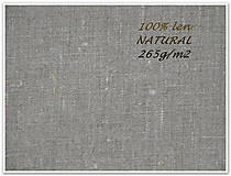 Textil - odstín NATURAL  100%len..metráž - 7173528_
