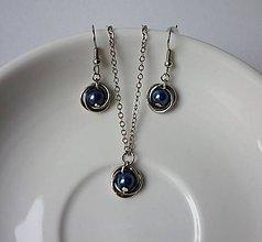 Sady šperkov - Malá modrá sada - 7177047_