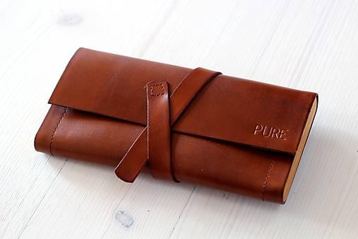 Dámska peňaženka WALLET (BROWN)   PURE - SAShE.sk - Handmade Peňaženky cdfaf06a7af