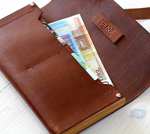 918bd8186 Dámska peňaženka WALLET (NATURAL) / PURE - SAShE.sk - Handmade Peňaženky