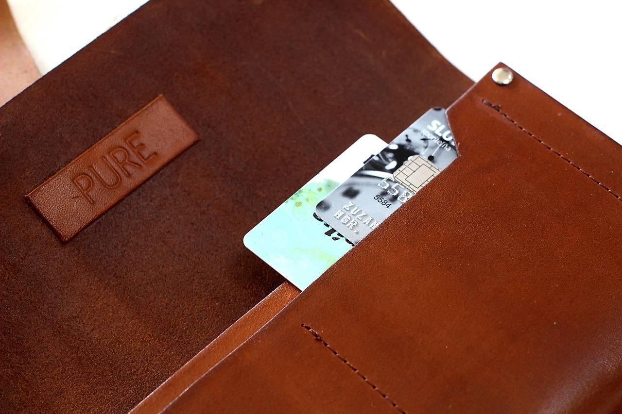 Dámska peňaženka WALLET (RED)   PURE - SAShE.sk - Handmade Peňaženky 7adaac7779c