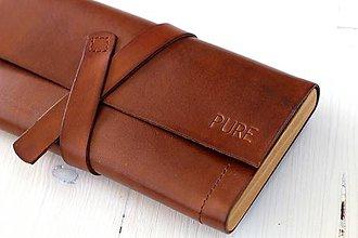 Peňaženky - Dámska peňaženka WALLET BROWN - 7174814_
