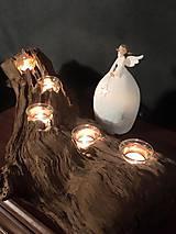 Dekorácie - Drevený svietnik - LIGHT  - 7175605_